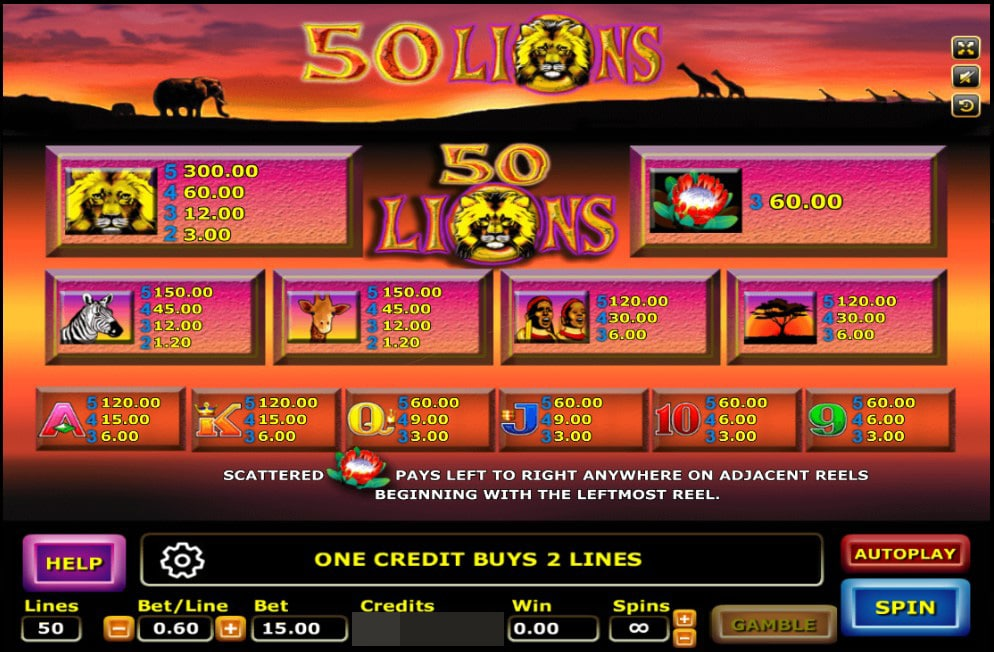 50 Lions 2