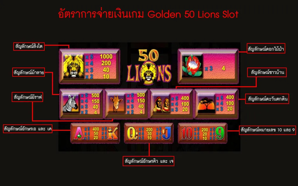50 Lions 6
