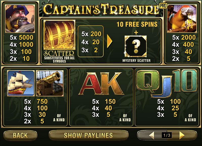 Captain Treasure 1